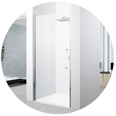 Recess shower doors