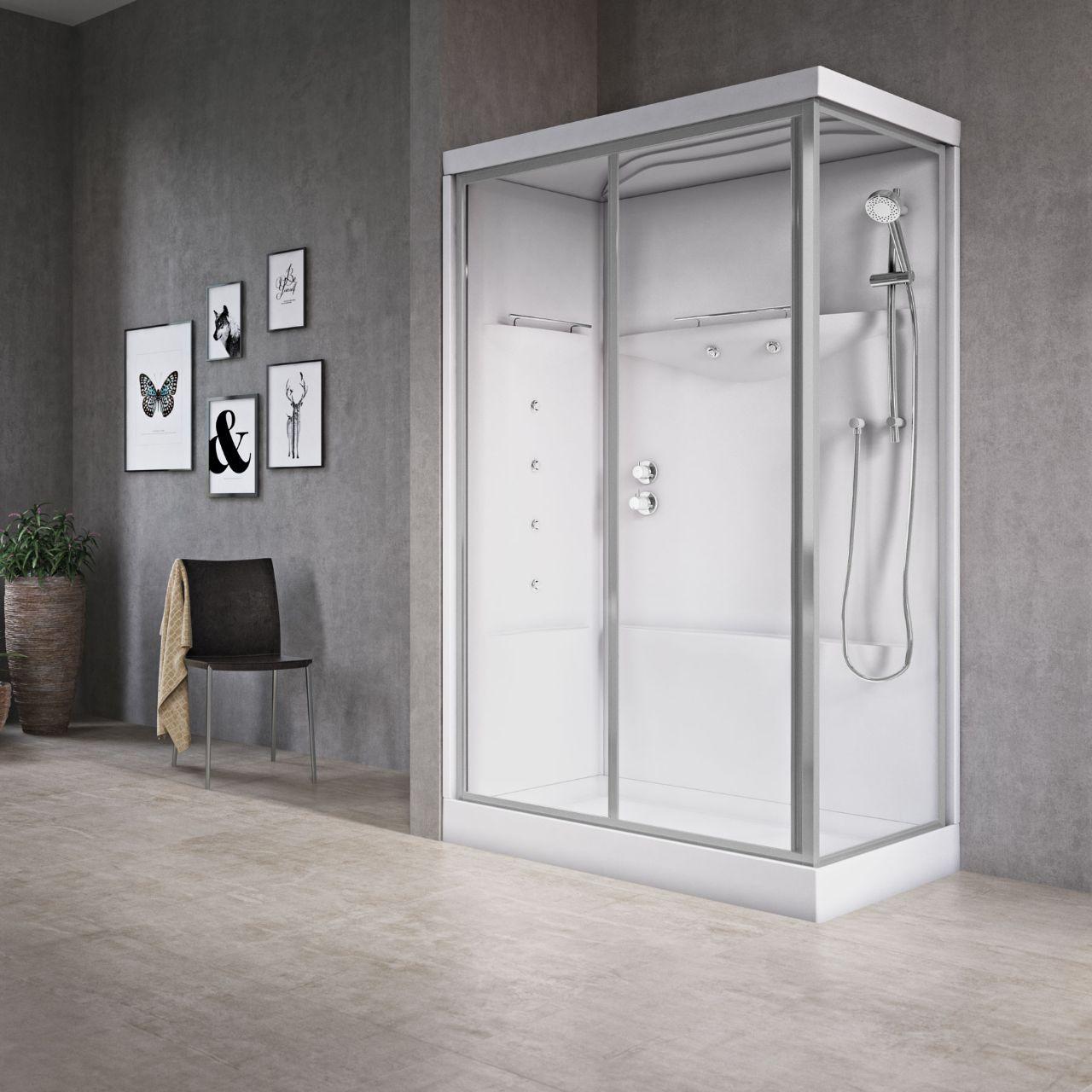 Vasca idromassaggio con box doccia - Cabine doccia multifunzione novellini ...