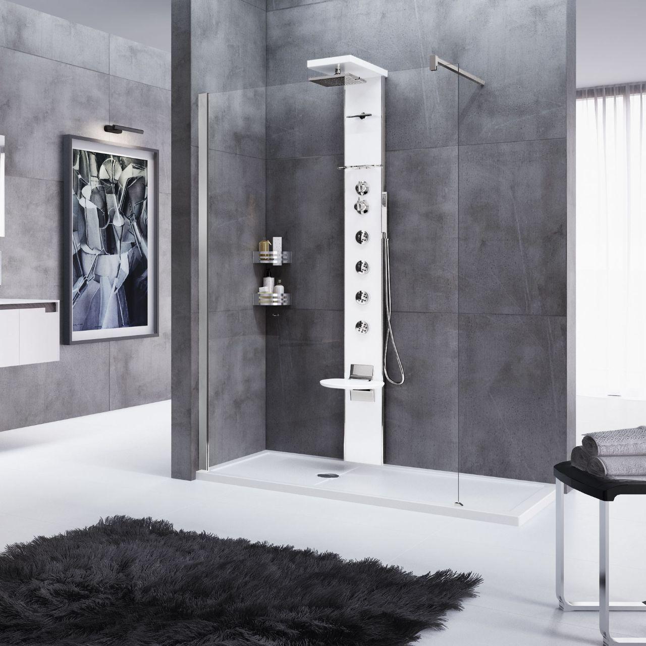 Colonne doccia cascata 3 novellini for Columna de ducha con grifo