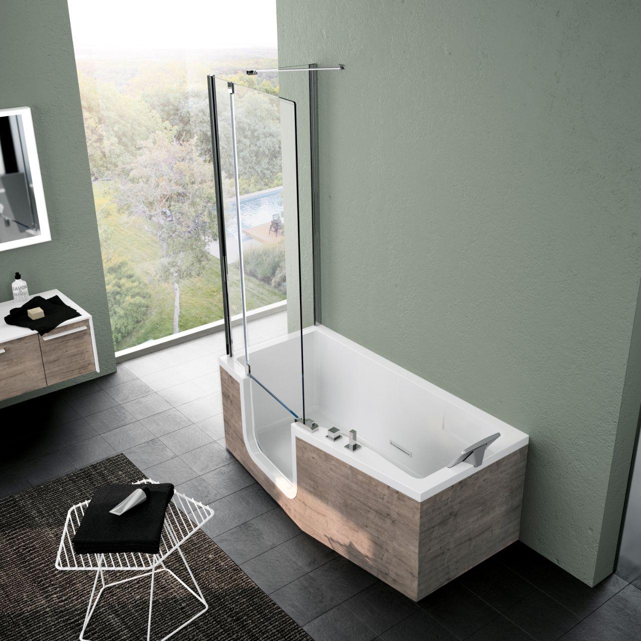 badewannen iris kombi plus novellini. Black Bedroom Furniture Sets. Home Design Ideas