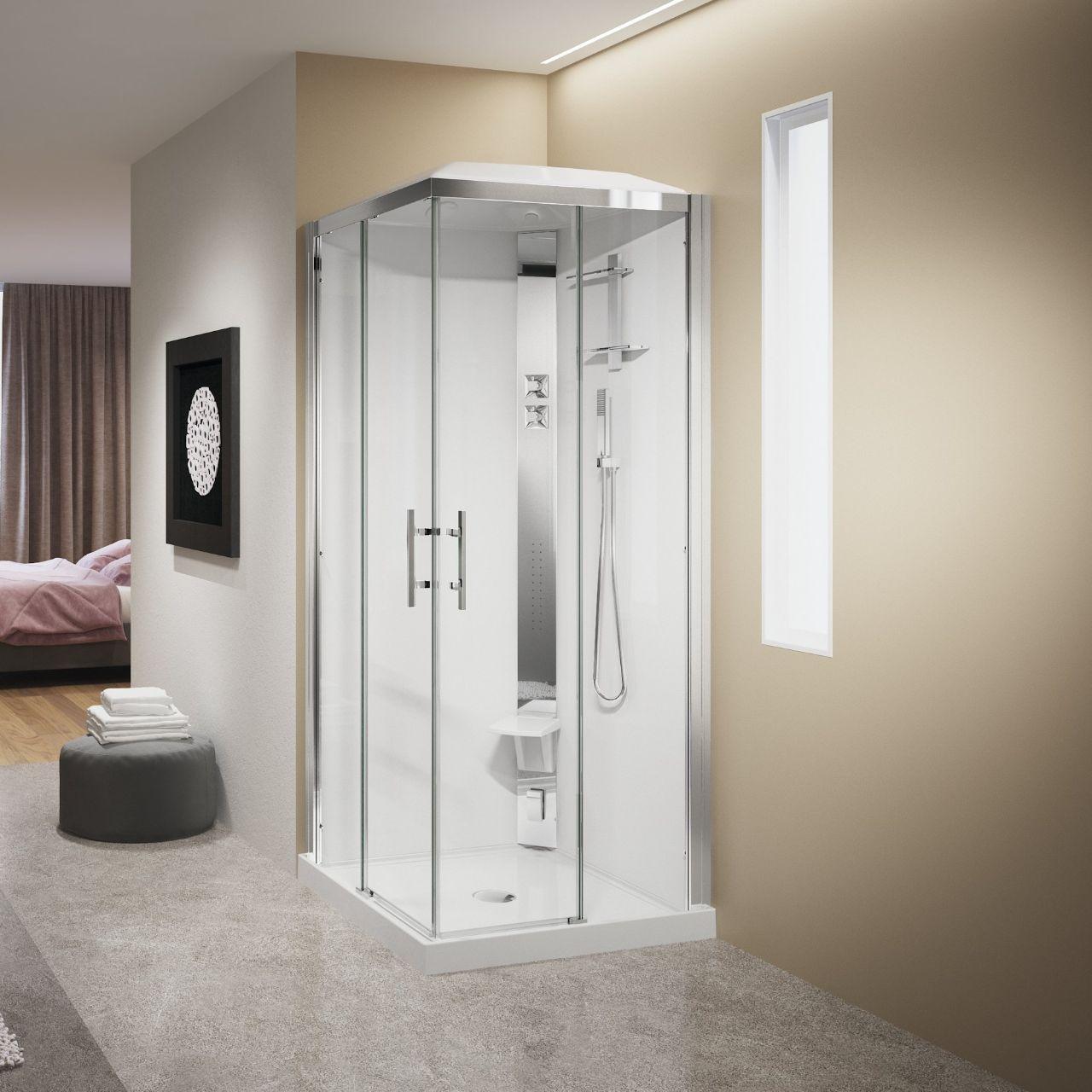 cabines de douche crystal a90 novellini. Black Bedroom Furniture Sets. Home Design Ideas