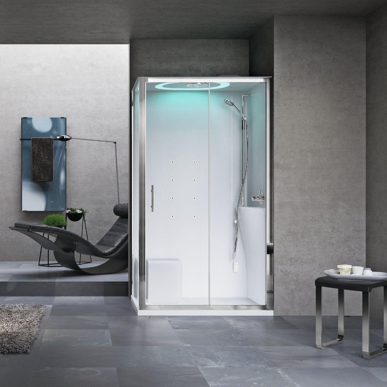 Cabine doccia eon 2p120x80 novellini - Cabine doccia multifunzione novellini ...