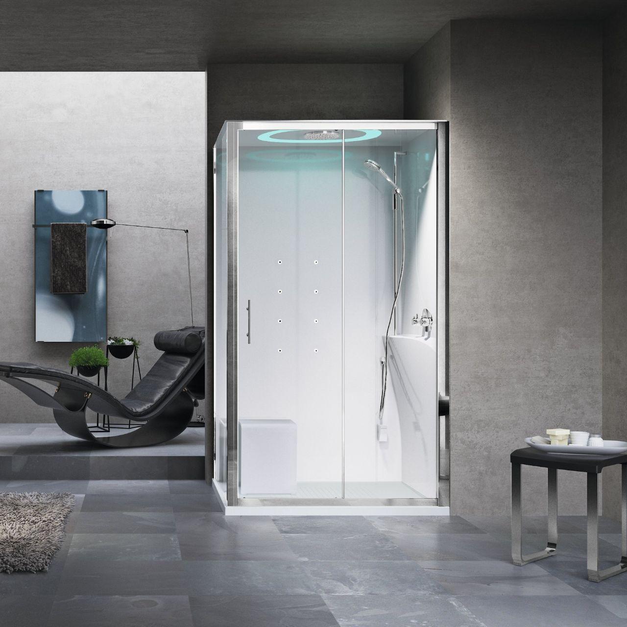 Cabine doccia eon 2p120x90 novellini - Cabine doccia multifunzione novellini ...