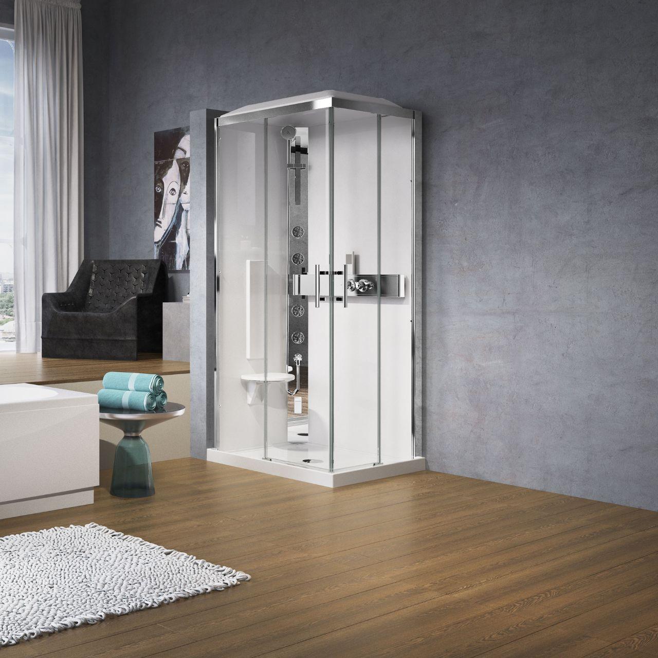 cabines de douche glax a100x80 novellini. Black Bedroom Furniture Sets. Home Design Ideas