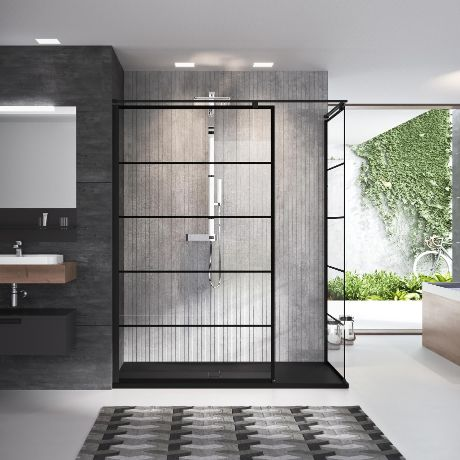 Shower spaces - Kuadra H Stripes