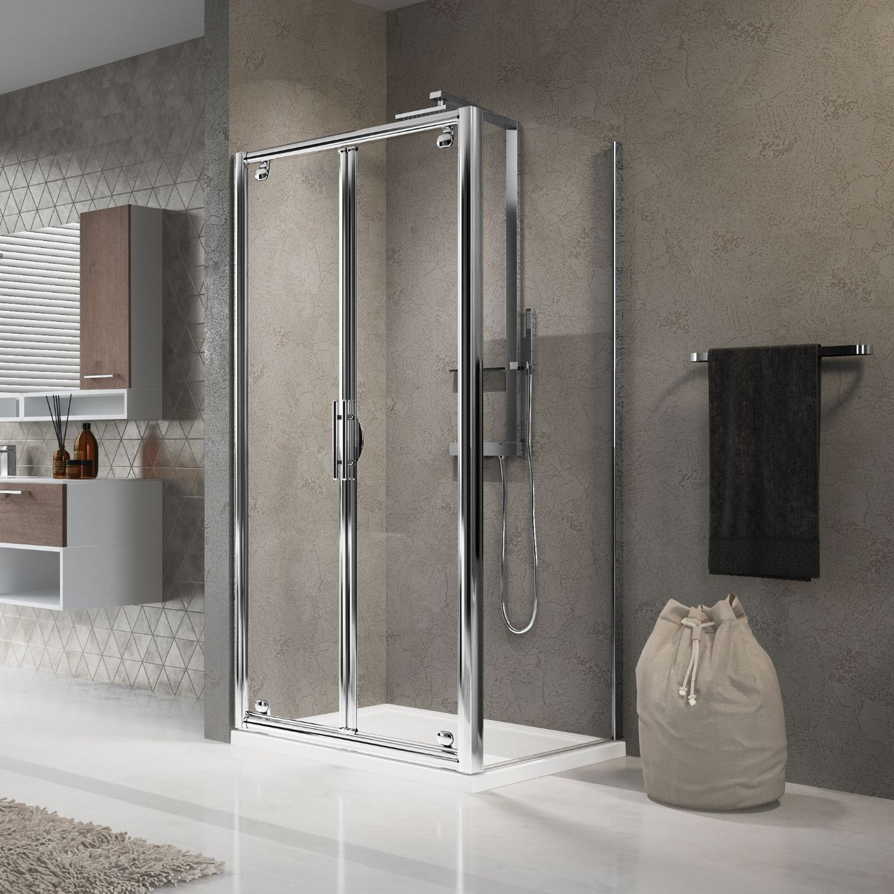 Shower enclosures Lunes B+F - Novellini