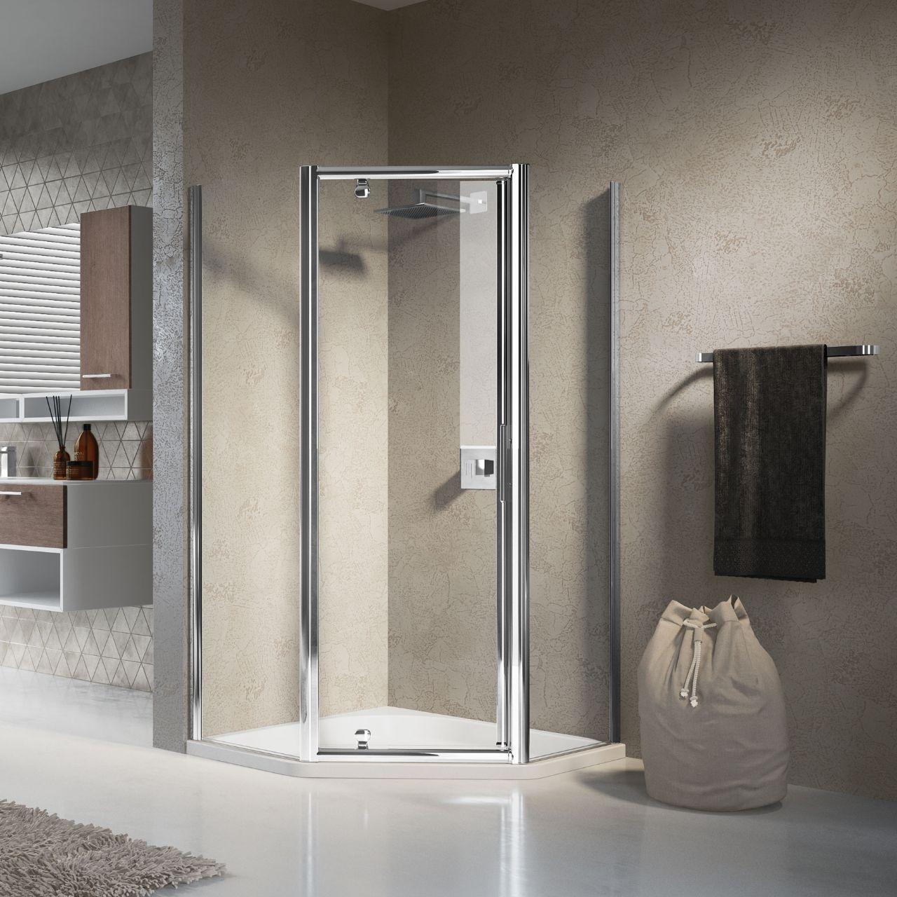 Shower enclosures lunes pentagono g novellini for Novellini shower doors