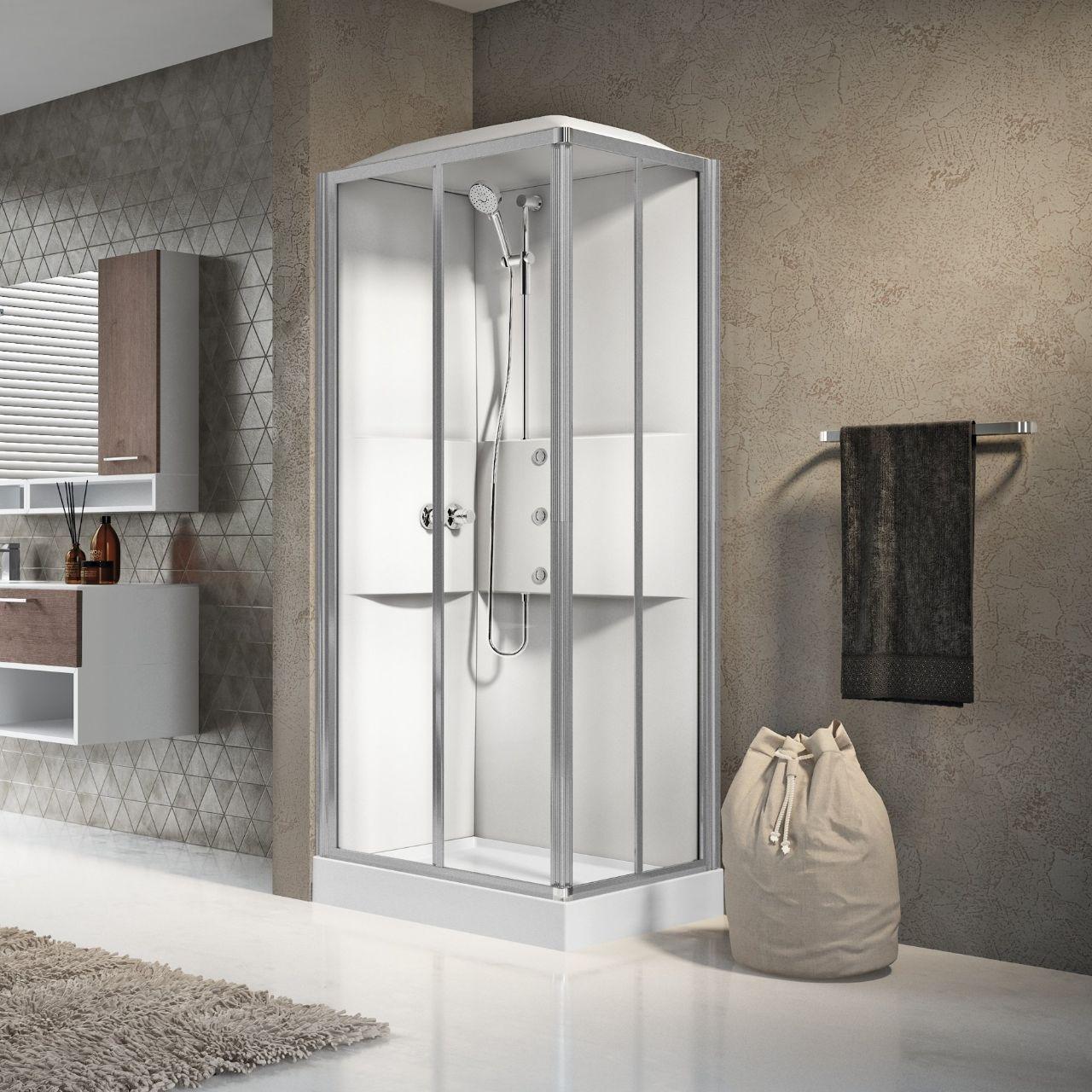 Cabinas de ducha media 2 0 a90x70 novellini - Cabinas de ducha ...