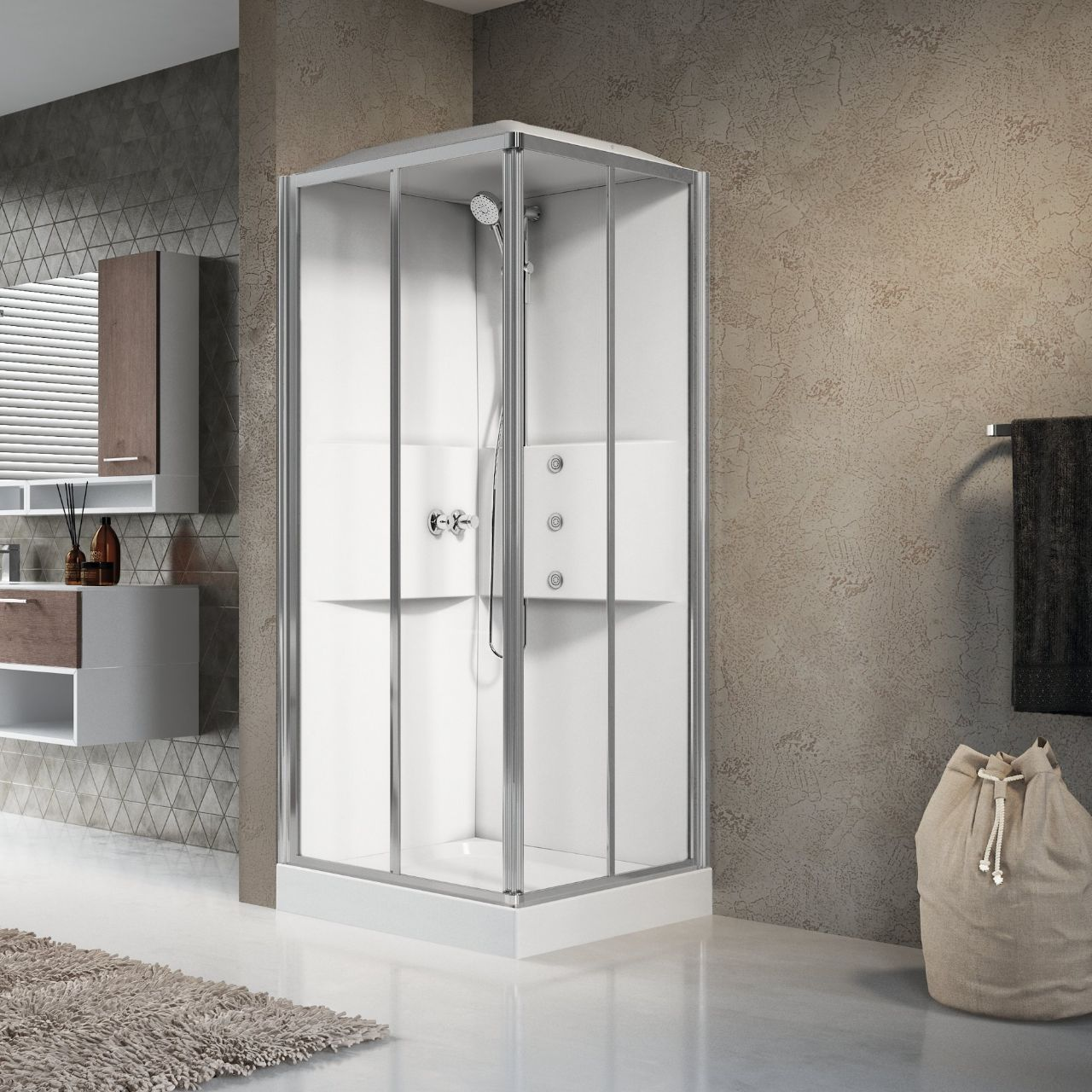 cabines de douche media 2 0 a80 novellini. Black Bedroom Furniture Sets. Home Design Ideas