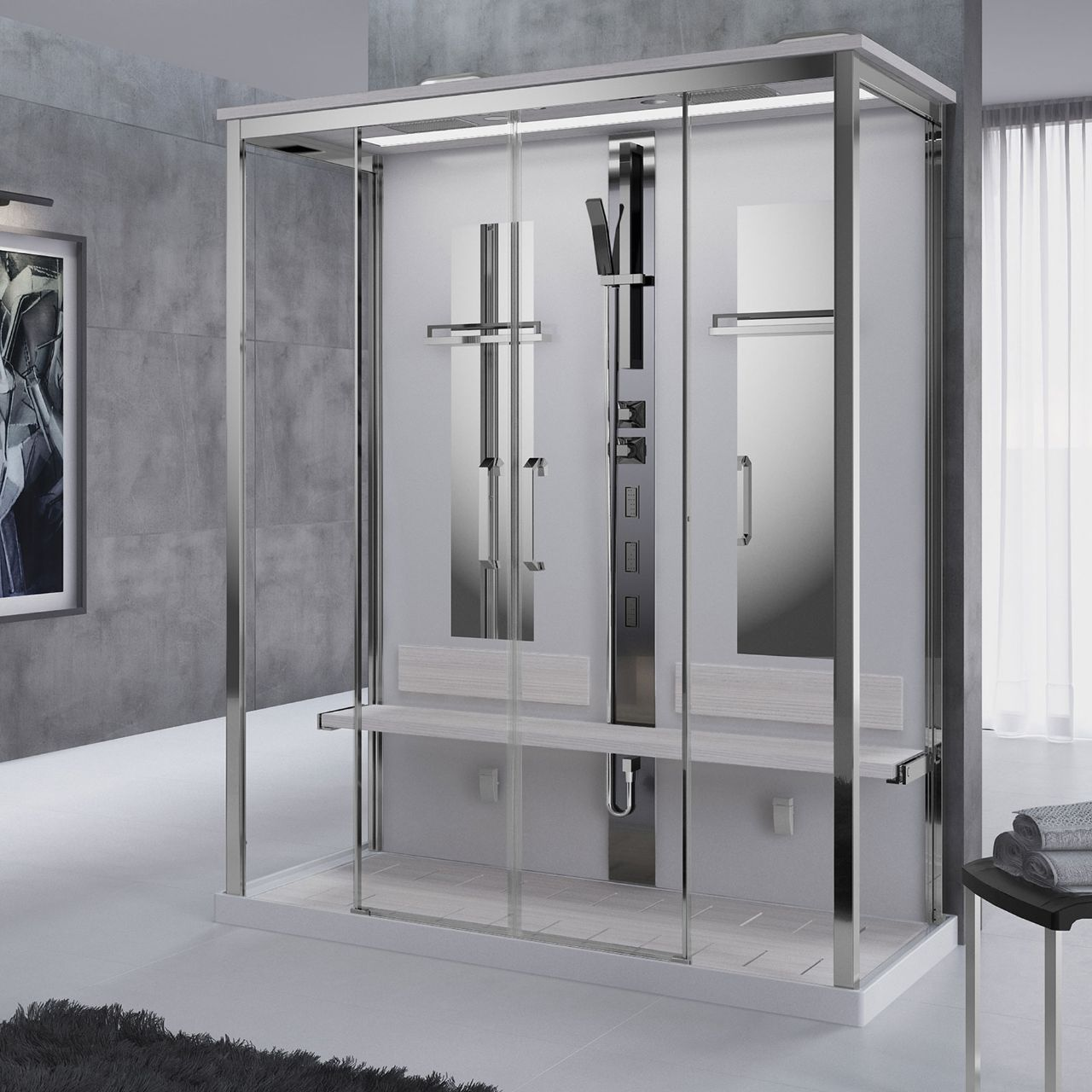 shower cubicles nexis dual novellini. Black Bedroom Furniture Sets. Home Design Ideas