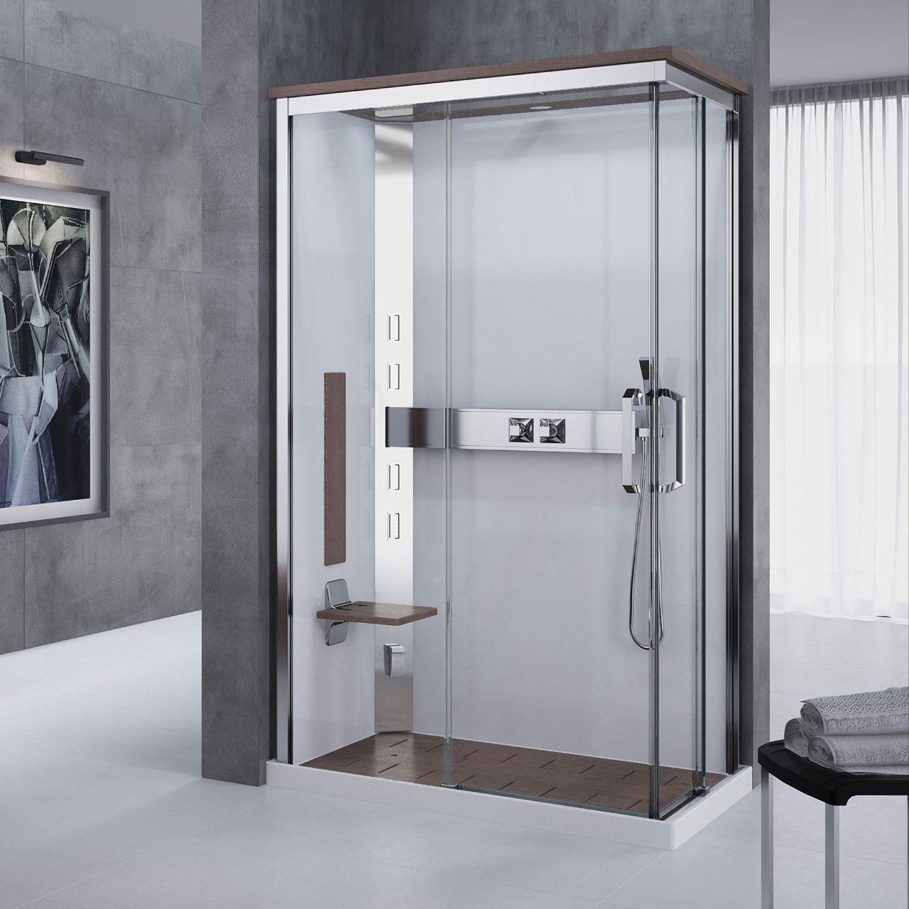 Cabine doccia nexis a120x80 novellini - Cabine doccia multifunzione novellini ...