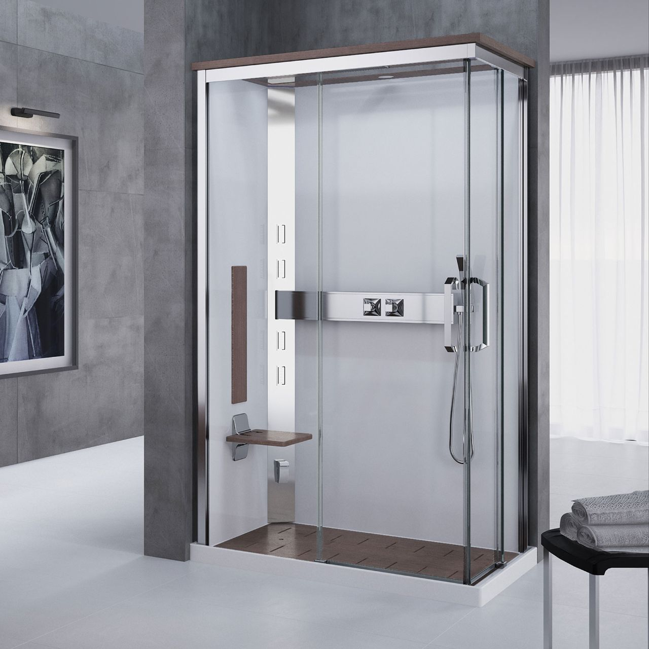 komplettduschen nexis a120x80 novellini. Black Bedroom Furniture Sets. Home Design Ideas