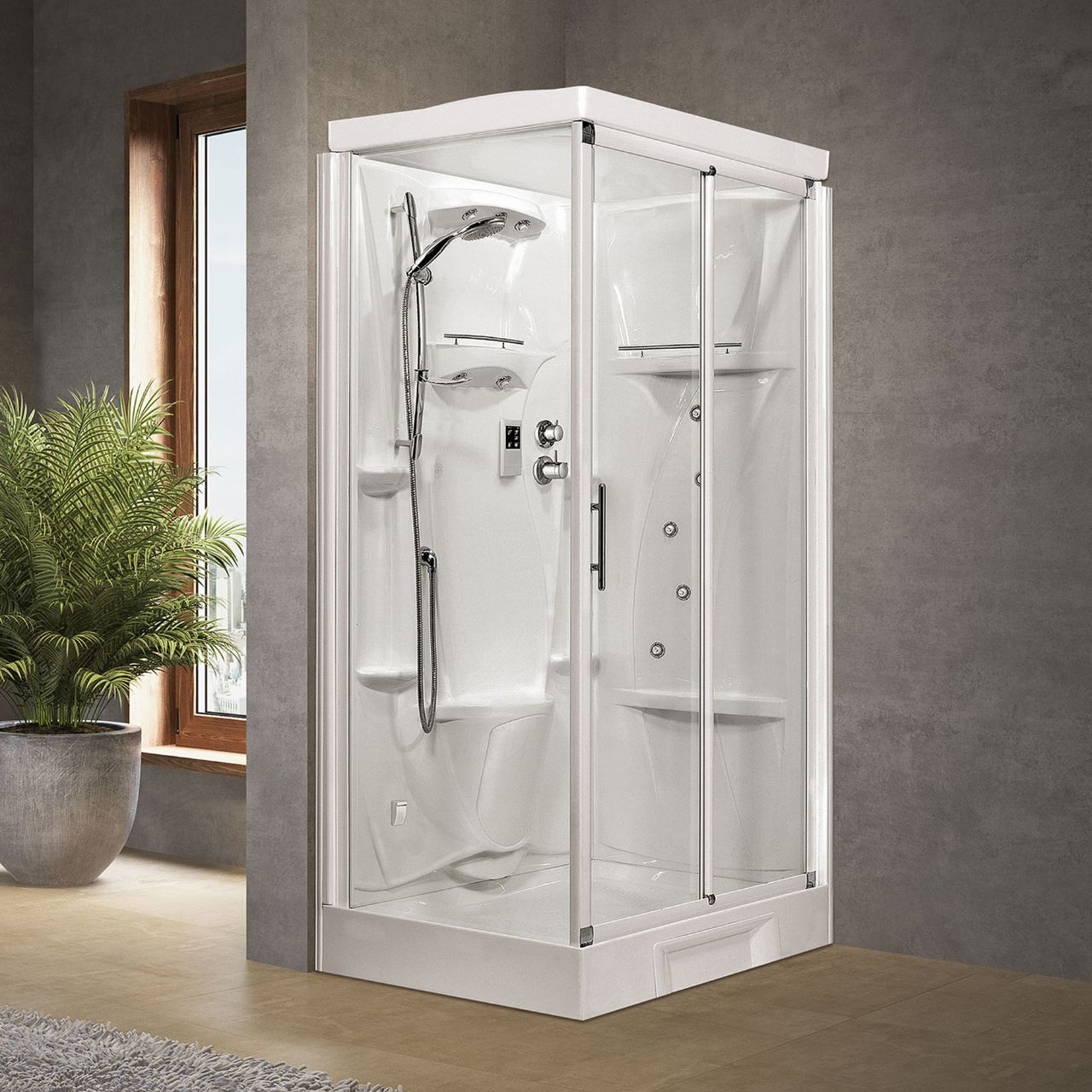shower cubicles new holiday 2p120x80 novellini. Black Bedroom Furniture Sets. Home Design Ideas