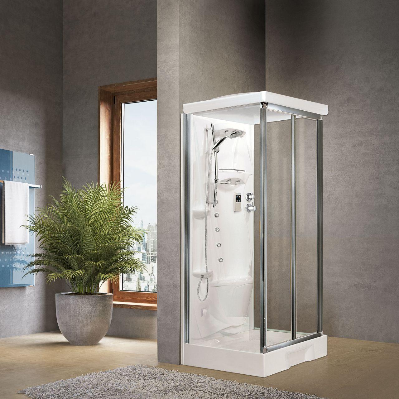 cabines de douche new holiday s2f 100x80 hydro novellini. Black Bedroom Furniture Sets. Home Design Ideas