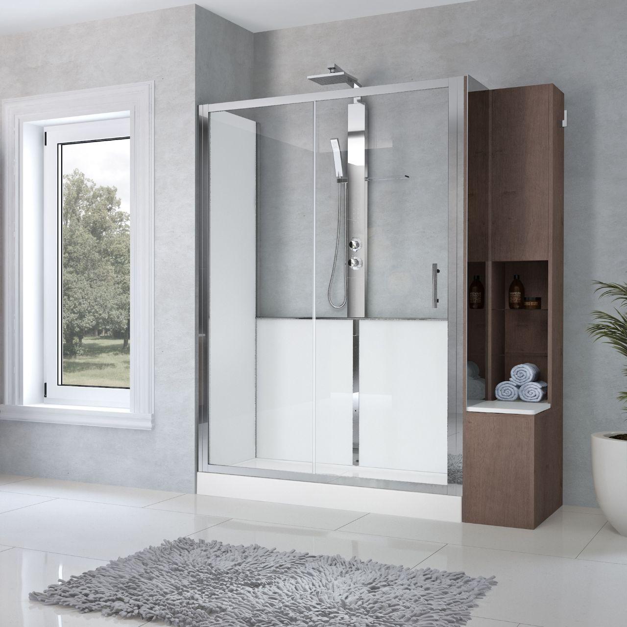 cabine doccia revolution 2 2p novellini. Black Bedroom Furniture Sets. Home Design Ideas