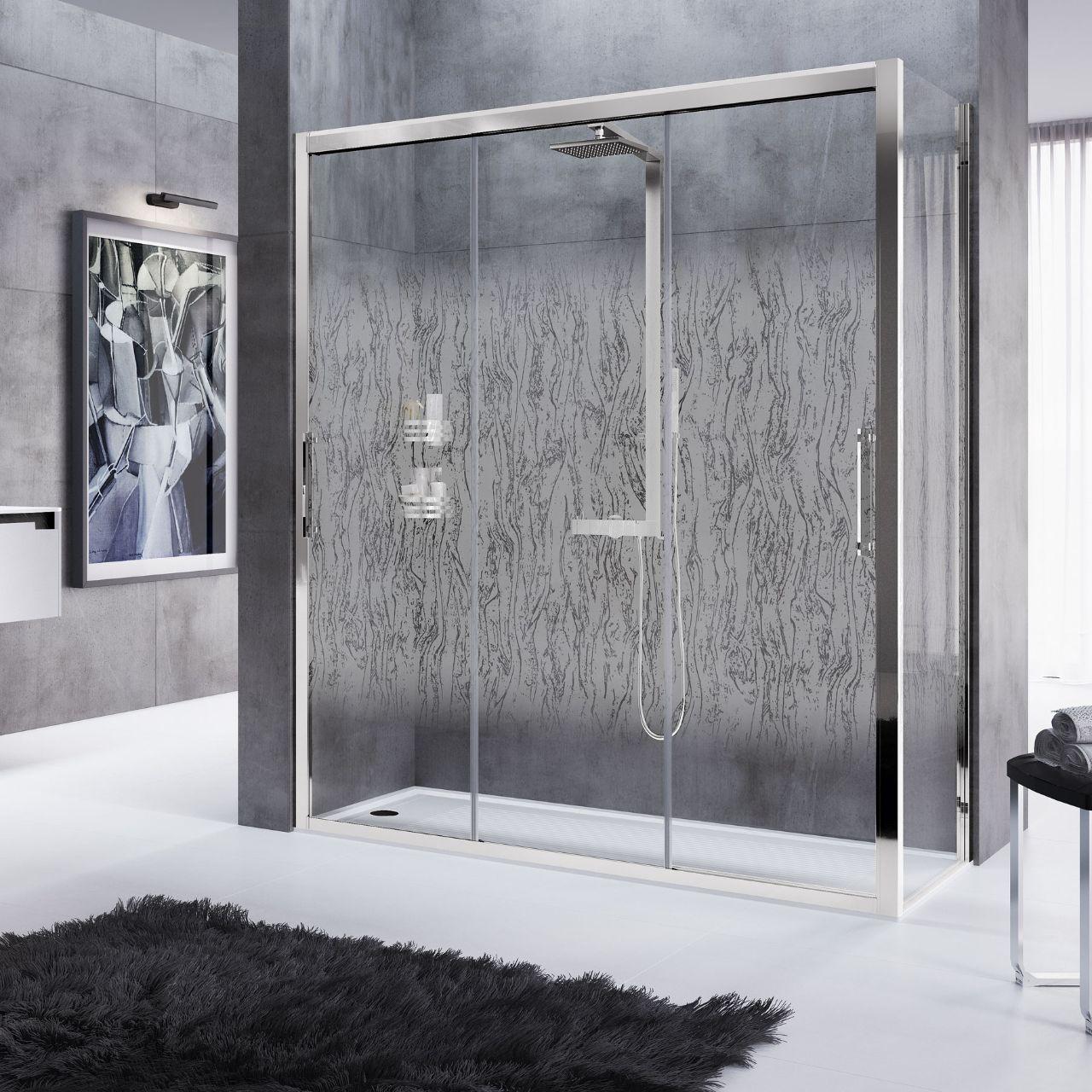 parois de douche rose rosse 3p f novellini. Black Bedroom Furniture Sets. Home Design Ideas